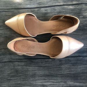 Madewell tan leather d'orsay flats